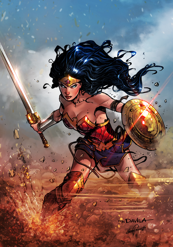 Wonder Woman 2017 DC COMICS (color) by le0arts