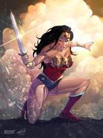 Wonder Woman DC COMICS (colors) by le0arts