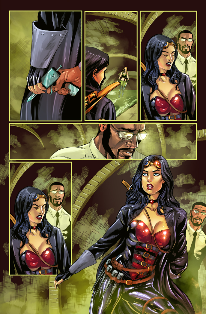 Van Helsing vs. Robyn Hood #3 Zenescope COLOR by le0arts