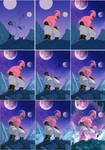 Majin Boo, Dragon Ball Z process (color work)