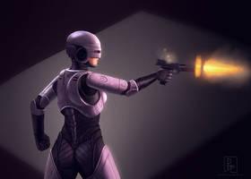 Female Robocop-3 by preston2694