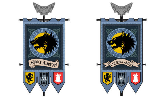 Space Wolves Banner