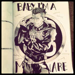 [JJBA] Okuyasu Ink sketch