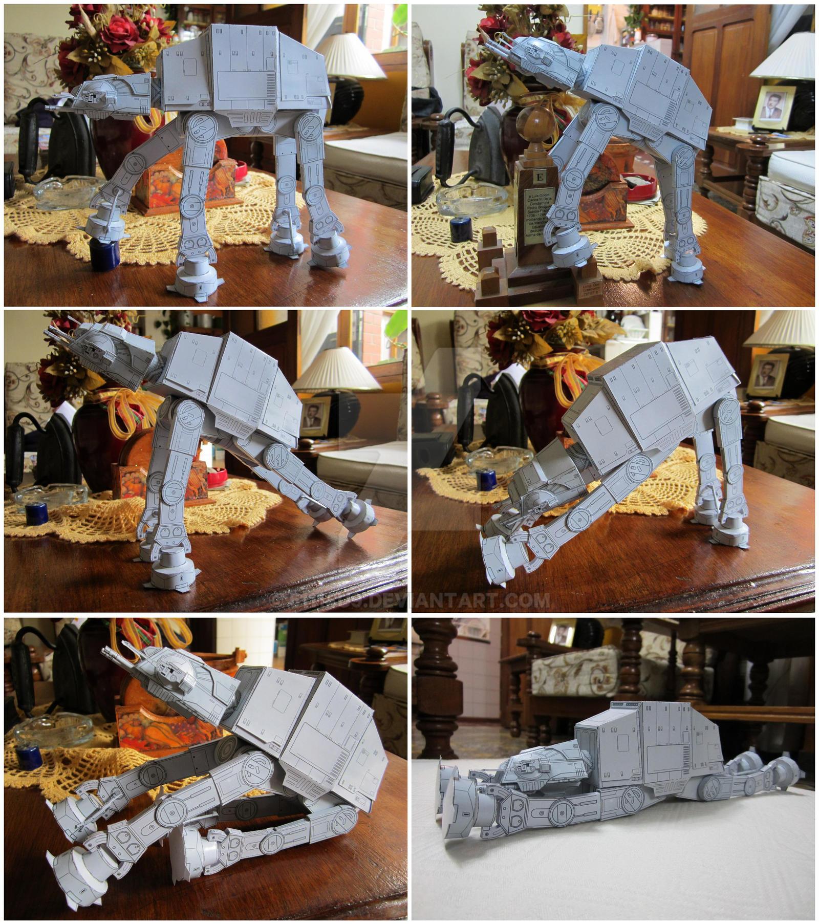 Papercraft Star Wars At At By 51114u9 On Deviantart