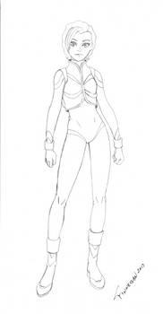 Hilde In a Gundam Astrosuit