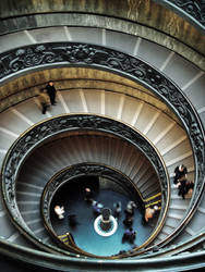 Vatican Museum Spiral Stairs by auctivsrf
