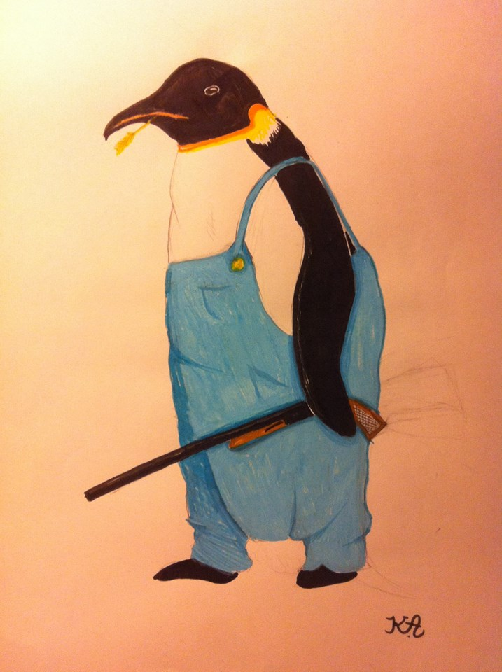 Southern penguin by Draceira
