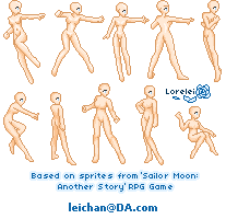 SailorMoon:AS Sprite Bases by leichan