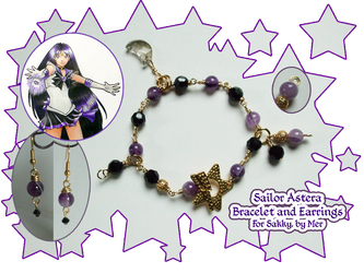 Sailor Astera Bracelet and Earrings by leichan