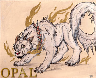 Opal the Guardian Lion by AwesomelyAimless