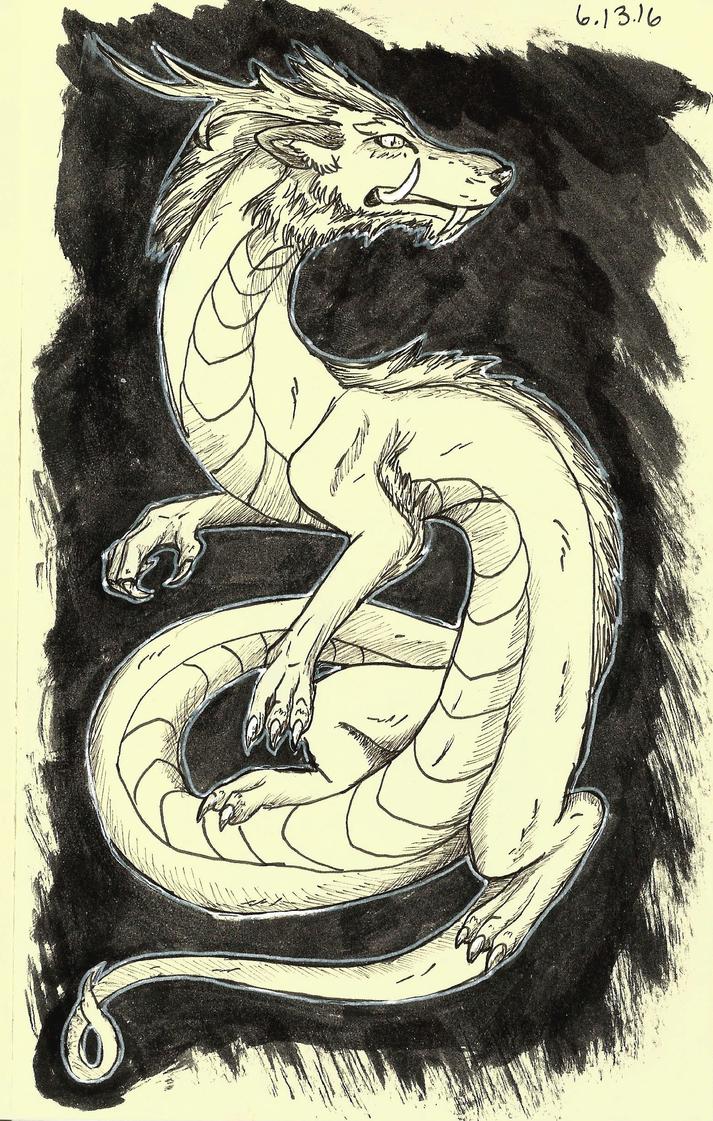 Ink Splash Dragon by AwesomelyAimless