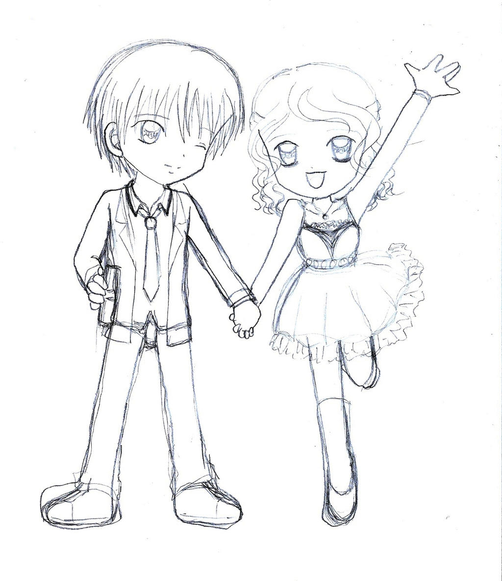 chibi couple date by armogirl5 on deviantart