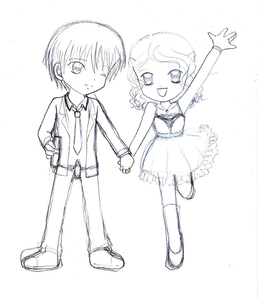 Chibi couple (date) by ArmoGirl5 on DeviantArt