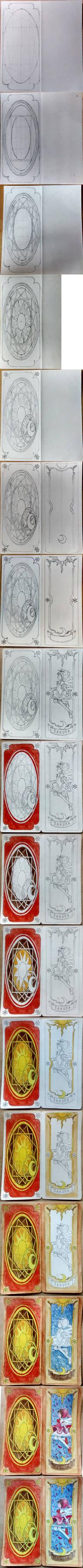 Sakura Card Captor - Birthday card (WIP)