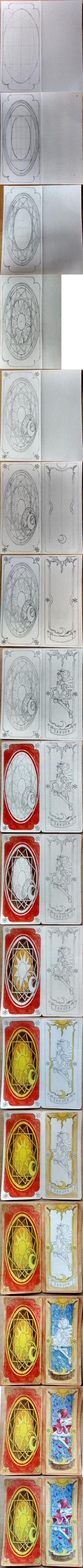 Sakura Card Captor - Birthday card (WIP) by near43