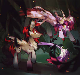 In the woods by AngryGem