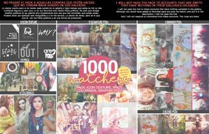 Pack 1000 WATCHERS! by kagomechan20