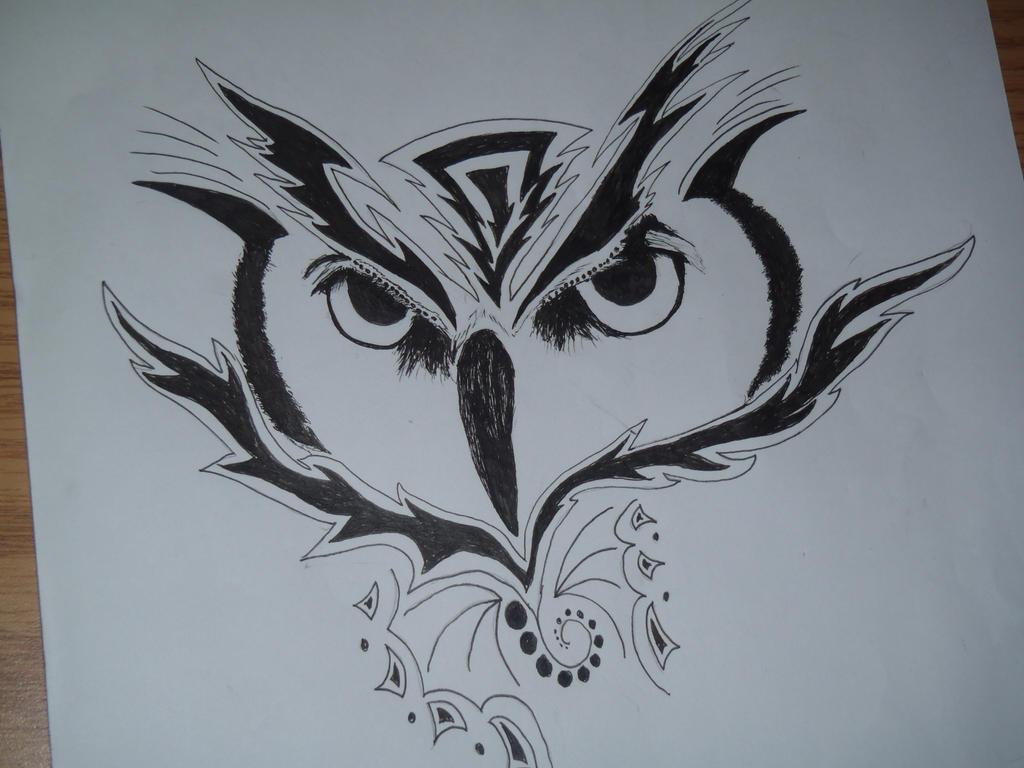 spunky owl by forever-broken92
