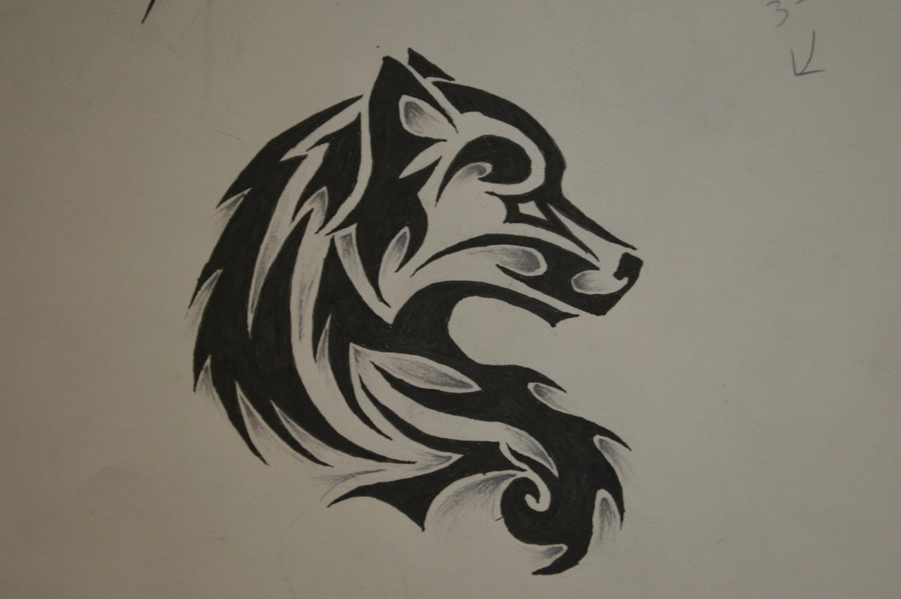 Tribal wolf tattoo by forever broken92 on deviantart for Tribal wolf tattoo