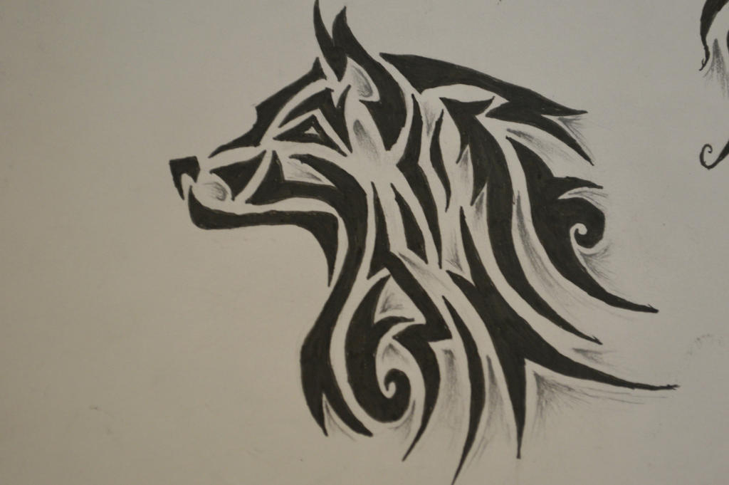 tribal wolf tattoo 2 by forever broken92 on deviantart. Black Bedroom Furniture Sets. Home Design Ideas