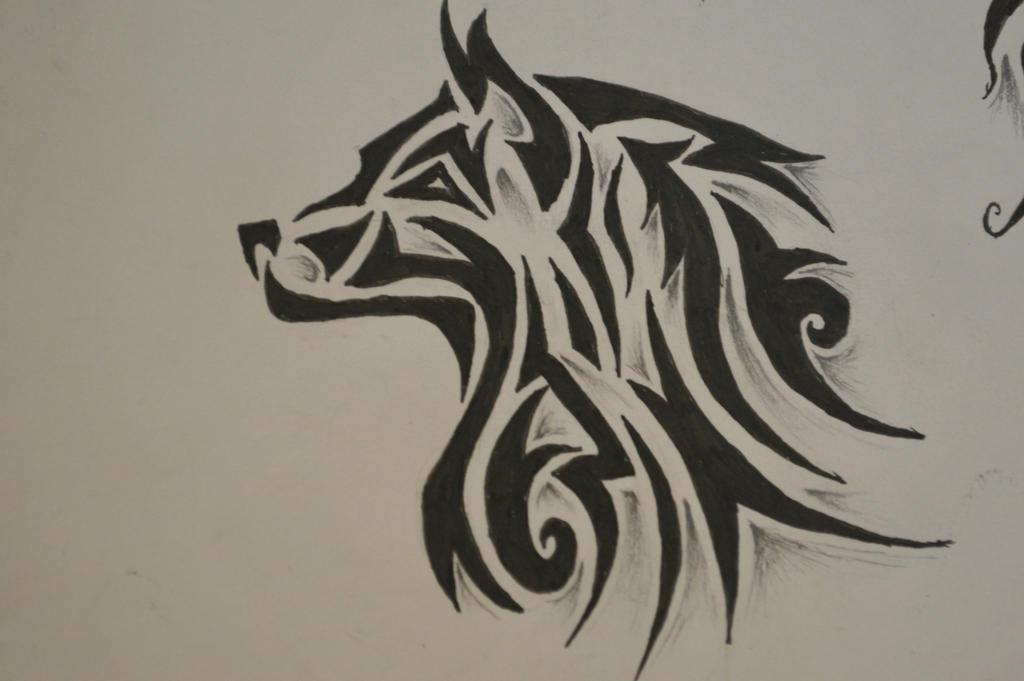 tribal wolf tattoo 2 by forever broken92 on deviantart. Black Bedroom Furniture Sets. Home Design Ideas