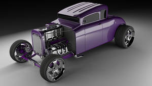 Stylized Ford 32 Hot Rod