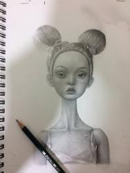 Bjd doll sketch by ImsomniaGrl