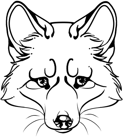 Fox face drawing - photo#28