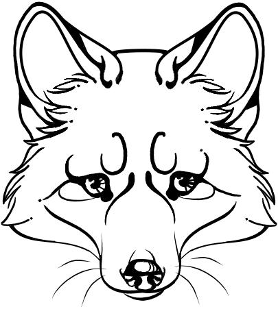 Simple fox head outline - photo#11