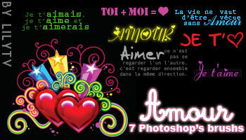 Amour Text Photoshop Brush+PNG