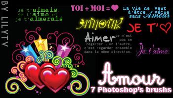 Amour Text Photoshop Brush+PNG by lilytv