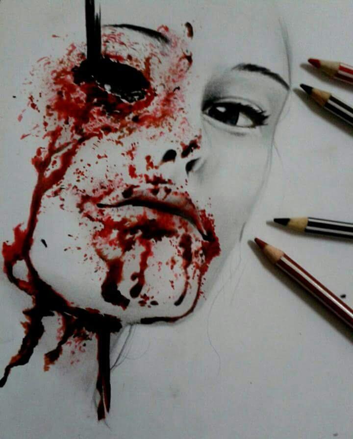 BLOODY ARTS PRACTICE 2 by kathkatblanca