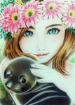 FLOWER CROWN GIRL  by kathkatblanca