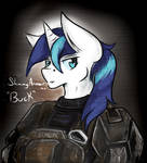Competion Entry- Shining Armour as 'BUCK' by Chaosmauser