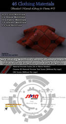 46 Standard Clothing Materials Pack for Cinema 4D by bestm8