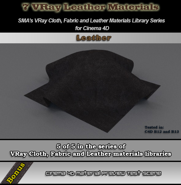 7 Vray Leather Materials Library for Cinema 4D by bestm8 on DeviantArt