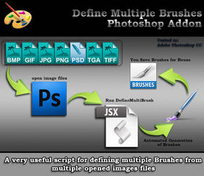 Define Multiple Brushes Script for Photoshop by bestm8