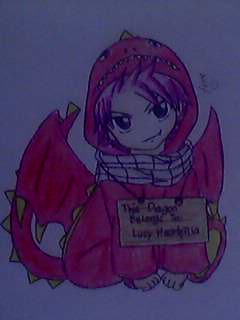 Chibi Natsu in a dragon suit. (Just a picture) by janesmee