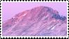 pink mountain stamp