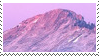 pink mountain stamp by homu64