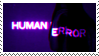 purple neon stamp