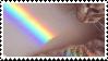 rainbow cat stamp by homu64