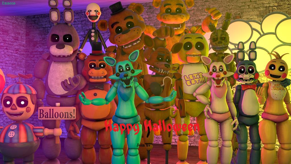 FNAF : Halloween Poster by Enaeco11 on DeviantArt