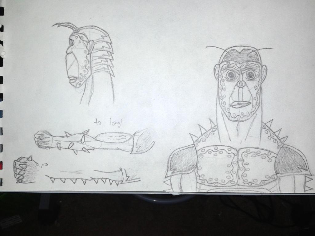 Harlequin cockroach Terrafomrar Sketches by SirSSJacob