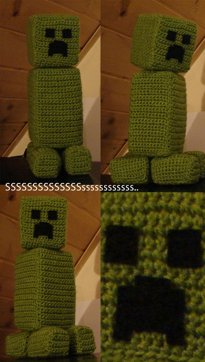 Minecraft's Creeper amigurumi by scuff13
