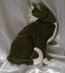 Intarsia Cat