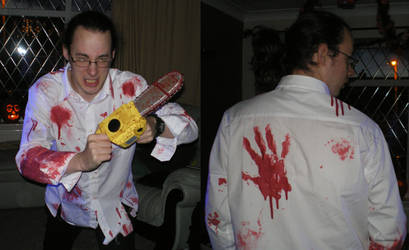 Bloody zombies messin my shirt