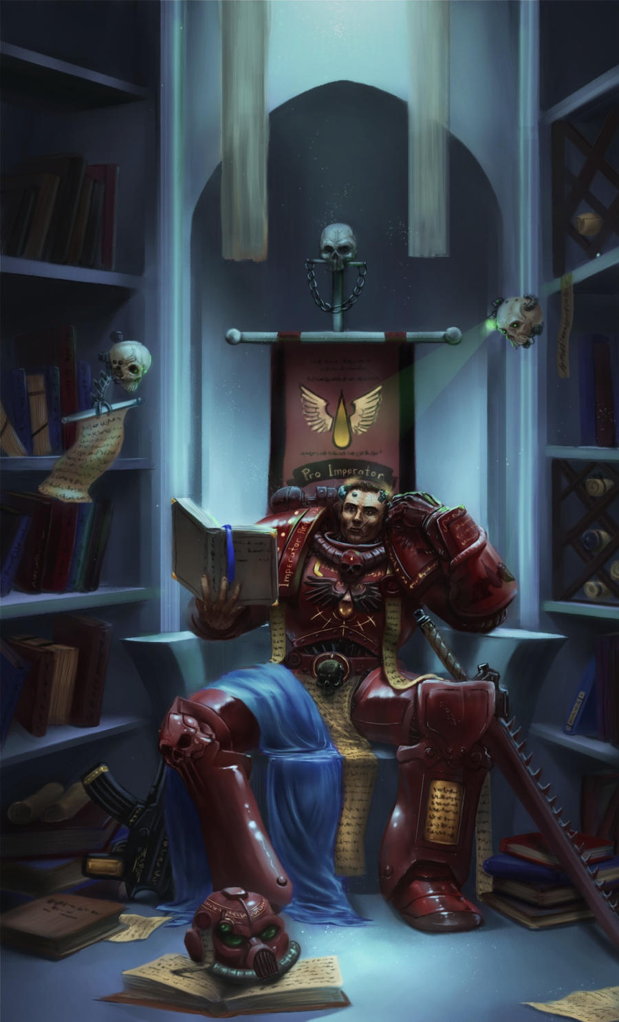 [W40K] Collection d'images : Space Marines Blood_Ravens_Librarian_by_Mlad