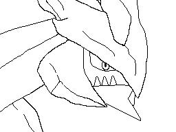 Black Kyurem (DSi Drawing) Line Art by CosmoArceus777 on ...