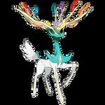 Shiny Xerneas (Official Artwork Recolor)